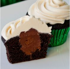 Irish Car Bomb Cupcakes ingredients:for the cupcakes:2 eggs½ c. sour cream6 oz (about ¾ c. not including the head) guiness 2 t. vanilla1 t. baking soda½ t. baking powder½ c. dark cocoa powder1¼ c. flour1 c. sugar6 T. melted butterpinch of saltfor the ganache:6 oz bittersweet chocolate⅔ c. heavy cream4 T. Jameson Whiskey2 T. butterfor the frosting:1 stick of butter at room temperature3 c. powdered sugar4 oz cream cheese4 T. baileysPreheat oven to 350º F 25 min