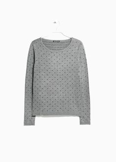 Pull-over à pois relief Mango 35€