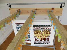 Home-made print drying rack