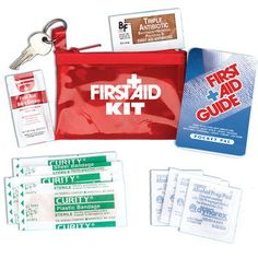 Travel First Aid Kit - logo & tagline