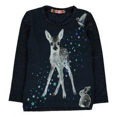Lola Bambi Lurex T-shirt Light blue  ANNE KURRIS
