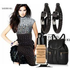 """Sherri Hill 21045 Black Prom Dress"" by mccooey-vila on Polyvore"