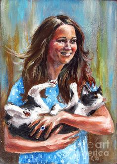 Kate Middleton Duchess Of Cambridge And Her Royal Baby Cat