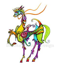 love it....Pretty Reins Fantasy Horse Print by BrookeConnorDesign on Etsy, $20.00