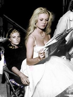 Brigitte Bardot and her younger sister, Mijanou
