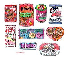 anna 🍑 comms open! (@acutehorizon) / Twitter Pop Stickers, Kawaii Stickers, Anime Stickers, Printable Stickers, Cute Food Art, Cute Art, Sweet Drawings, Diy Doll Miniatures, Cute Animal Drawings Kawaii