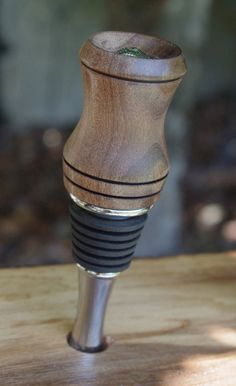 Bottle stopper made of beautiful wood