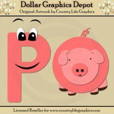 Alphabet Letter P - Cutting Files / Paper Piecing Patterns