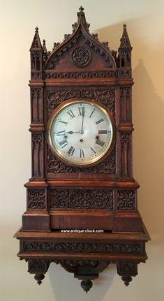 Gothic Triple Fusee 8-Bells at antique-clock.com