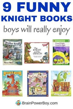 Continuing on with our funny books for boys lists we bring you Funny Knight Books for Boys. They are going to love these! All knights, some dragons and a whole lot of humor! Click through to see the whole list.