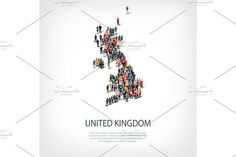 people map country United Kingdom vector. Travel Infographics