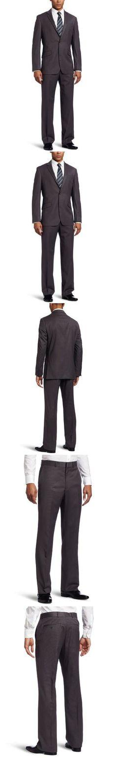 Ryan wants a gun metal grey suit! Kenneth Cole Reaction Men's 2 Piece Side Vent Suit, Gun Metal Gray, 40 Regular, Gun metal grey, #Apparel, #Vests