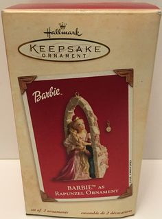 2002 Hallmark Keepsake Christmas Ornament - Barbie as Rapunzel This item is NOT in Mint Condition and is in no way being described as Mint or even Near Mint. Our toys have not always lead the perfect
