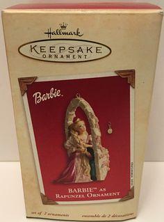 (TAS032583) - 2002 Hallmark Keepsake Christmas Ornament - Barbie as Rapunzel