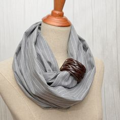 Unisex Cotton Infinity Scarf. Chunky Scarf. Natural by LinenLea