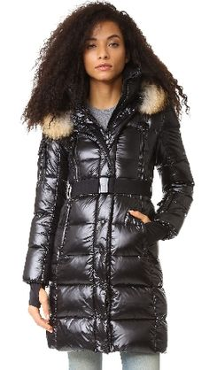 INFINITY PUFFER JACKET BY SAM | I just bought this puffer jacket and it is AMAZING!! SOOOOO warm and also very cool. The fur-lined, hood is VERY dramatic when pulled up over the head. This coat is guaranteed to keep you warm. Seriously. Don't hesitate  http://rstyle.me/n/b9fh5r58an