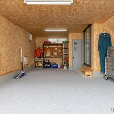 Basement Gym, Basement Remodeling, Garage Shop, Garage House, Finished Garage, Plywood Walls, Diy Garage Storage, Garage Interior, Garage Walls