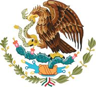 Mexico's Coat of Arms - Mexican Government.Mexico's Coat of Arms features an eagle on top of a cactus with a snake in its mouth: Aztec symbolism for the founding of Tenochtitlán/Mexico City. Arte Latina, Mexican Flags, Mexican Flag Eagle, Mexican Army, Mexican Heritage, Snake Art, Mexico Art, Golden Eagle, Mexican American