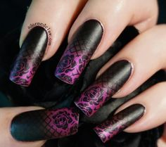 Gothic Gradient Nail Art
