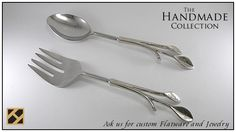 Brass Salad Serving Flatware Set By Hindicraft.com info@hindicraft.com
