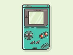 This illustration of a Gameboy reminded me of my childhood. Even the colors. I like the reflection of the screen and the highlights of the buttons. AR