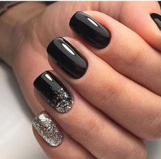 22 totally classy nail designs to rock this winter 2019 .- 22 totally classy nail designs to rock this winter 2019 … – design designs - Classy Nail Designs, Black Nail Designs, Winter Nail Designs, Winter Nail Art, Gel Nail Designs, Nails Design, Winter Nails Colors 2019, Winter Art, Salon Design