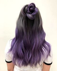 purple dip dye hair - hair styling- lila Dip Dye Haare – Haarstyling purple dip dye hair – hair styling check more at - Purple Dip Dye, Dyed Hair Purple, Dyed Hair Pastel, Dye My Hair, Balayage Hair Purple, Dip Dye Hair Brunette, Pastel Dip Dye, Purple Grey Hair, New Hair