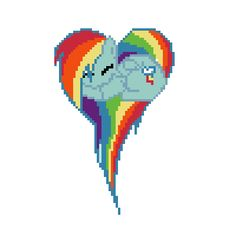 pixel art Rainbow Dash heart dash rainbow mlp heart by FurryRaver4life piq