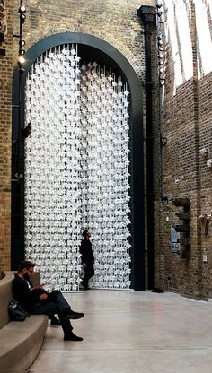 5000 paper windmills installation