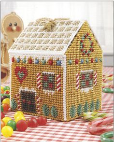 Gingerbread House Plastic Canvas Pattern on Etsy, $4.99