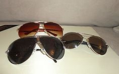 Lot of 3 Mens Aviator style sunglasses. for this and more visit me at www.dandeepop.com