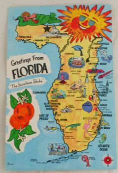 Map Of Florida Bradenton.36 Best Vintage Florida Images Vintage Florida Old Florida