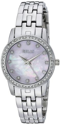 Relic Women's Analog Display Analog Quartz Silver Watch * To view further for this watch, visit the image link. Relic Watches, Cool Watches, Fossil, Rolex, Bracelet Watch, Quartz, Display, Band, Image Link