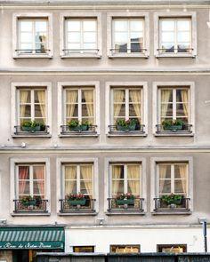 """Paris Photography, """"The Orange Curtain"""" French Architecture Photo, Large Wall Art, Paris Prints, -P Paris Architecture, French Architecture, Architecture Photo, Urban Architecture, Orange Curtains, Building Front, Townhouse Designs, Old Paris, Paris Photography"""