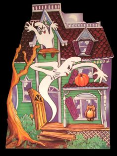 Haunted House wall decoration