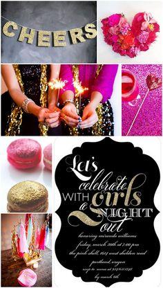 glitter girls bachelorette party inspiration