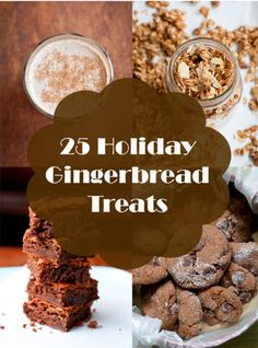 25 Holiday Gingerbread Treats - Babble from @Lindsey Grande Johnson // Cafe Johnsonia