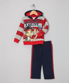 Take a look at this Red & Navy Stripe Jake Jacket & Pants - Toddler by Jake and the Never Land Pirates on #zulily today!