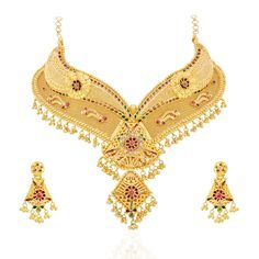 Exclusive Bridal Collection Jewelery available at new maria jewellers Gold Rings Jewelry, Gold Jewellery Design, Jewelry Sets, Jewelry Stores, Jewelery, Bridal Necklace Set, Gold Necklace, Gold Money, Or Mat