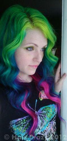 urs -   - -   - Atomic Pink   - Electric Banana   - Green (Pravana)   - Shocking Blue