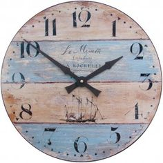 Driftwood Wall Clock 36cm