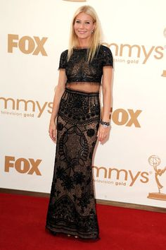 Gwyneth Paltrow looking perfect, as usual. Kim Kardashian wore this dress a few days later, and looked like an elephant. Ewww