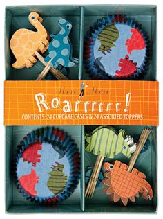 Dinosaur cupcake set