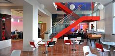 Relaxing and Fascinating Break Room Interior Design Comic Relief Office London