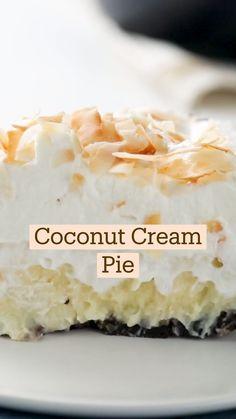 Coconut Desserts, Coconut Recipes, Delicious Desserts, Yummy Food, Fun Baking Recipes, Sweet Recipes, Dessert Recipes, Cooking Recipes, Best Coconut Cake Recipe