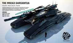 M92A3 Gargantua Heavy Railgun Tank (FULL HD) by Universe-of-Dusk on DeviantArt