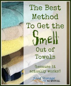 Do your towels ever develop a musty, mildew, yucky odor? Even when they're washed they still smell bad? Thanks to my small helpers that leave towels, wash cloths, and dish rags wadd… Freshen Towels, Smelly Towels, Washing Towels, Towels Smell, Washing Clothes, Towel Storage, Food Storage, Mildew Remover, Front Load Washer