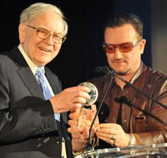 Bono's Ode To Warren Buffett [VIDEO] : This story appears in the December 2, 2013 issue of Forbes. / VIDEO here : www.forbes.com/sites/randalllane/2013/11/17/bonos-ode-to-warren-buffett/ #u2NewsActualite #u2NewsActualitePinterest #u2 #bono #PaulHewson #picture #2013 #new #news #actualite [photo: Glen Davis for FORBES]
