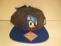 a44fac9e9c14e New Sonic The Hedgehog Sonic Pixel Silver Snapback Hat Cap Cosplay Hat Blue  Bill. Super Mario Bros ...