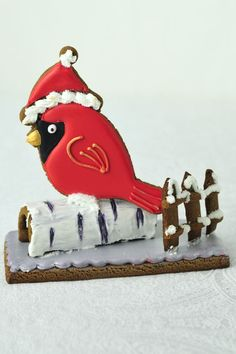DIY: Birch and Red Cardinal Gingerbread Centerpiece